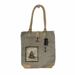 NEW Vintage Addiction Bee Kind Hive Canvas Tote